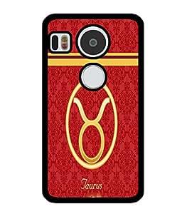 Fuson 2D Printed Sunsign Taurus Designer back case cover for LG Google Nexus 5X - D4390