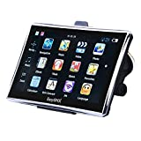 EasySMX [7'' Pouces GPS Auto 8G RAM 128MB] GPS Navigation avec Pre-loaded Carte-WinCE6.0-1500mah-Multi-languages TFT LCD MTK MS2531 Europe 22 Cartographie à Vie(Noir)...