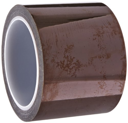 "Cs Hyde Kapton With Silicone Adhesive, 2 Mil Thick, Amber, 3"" Width X 36 Yard Roll"