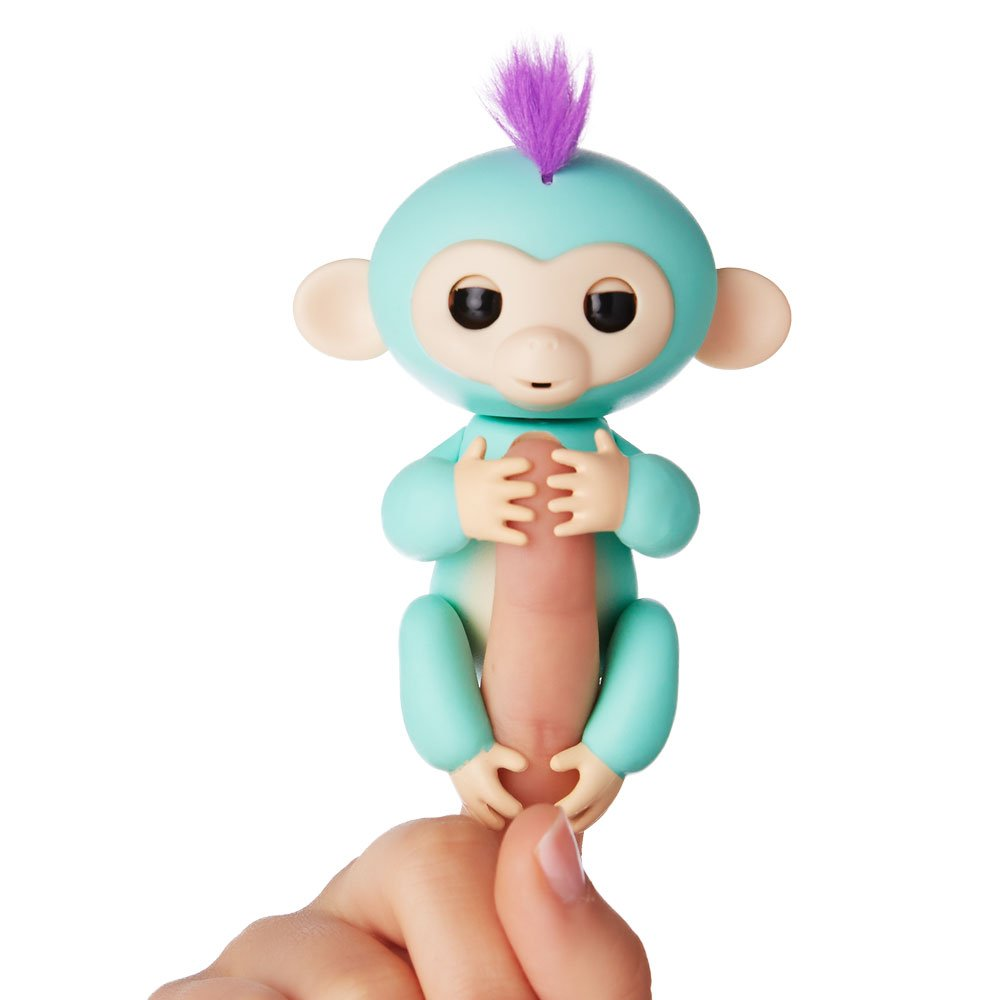 Turquoise Zoe Fingerlings Interactive Baby Monkey