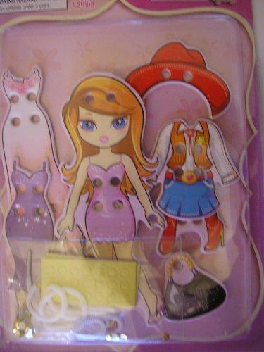 Dress up Wooden Doll Kit ~ 44 pcs ~ Blue Eyed Doll