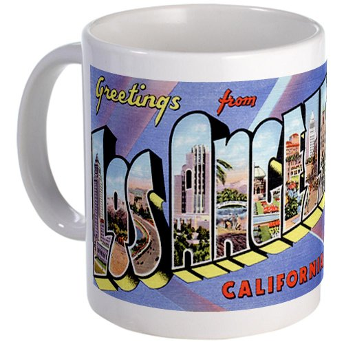 Los Angeles California Greetings Mug By Cafepress
