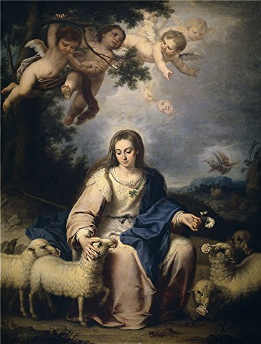 Oil Painting 'Llorente Bernardo German La Divina Pastora Ca. 1732', 16 x 21 inch / 41 x 53 cm , on High Definition HD canvas prints is for Gifts And Bar, Gym And Study Room Decoration (2 Inch Disk Washer compare prices)