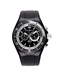 TechnoMarine Men's 110018 Cruise Sport Chronograph Black and White Dial Watch