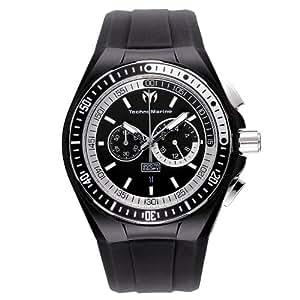 Technomarine - 110018 - Montre Homme - Quartz - Chronographe - Bracelet Caoutchouc Noir