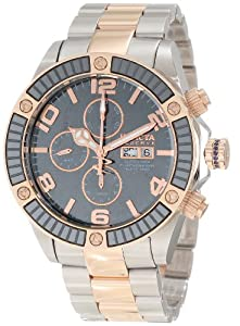 Invicta Men's 10611 Pro Diver Reserve Automatic Chronograph Grey Dial Two Tone Watch