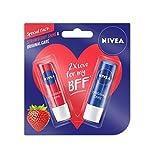 #10: Nivea Lip Care, Strawberry, 4.8g with Lip Care Essential, 4.8g
