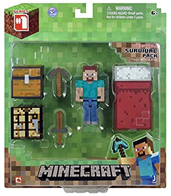 Minecraft Core Player Survival Pack Action Figure by Jazwares Domestic