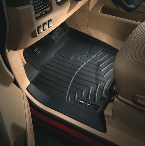 Weathertech Rubber Car Floor Mats - Black, 1st & 2nd Row Combo Pack 2005 - 2007 Honda Accord (Fit Notes: Rear pair does not fit Coupe )