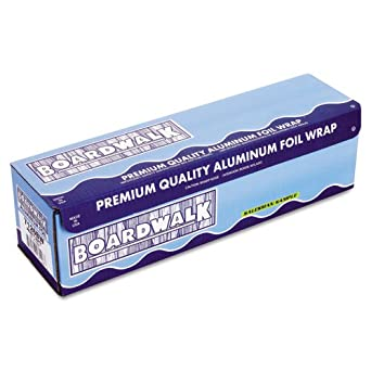 """Boardwalk BWK 7126 1000' Length, 18"""" Width, 20 Micron Thickness Heavy-Duty Aluminum Foil Roll"""