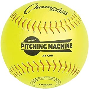 Buy Champion Sports 12in Leather Pitching Machine Softballs by Champion Sports