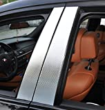 6x carbonio porta cromata rivestimento del montante B montante della portiera adatto per il vostro veicolo