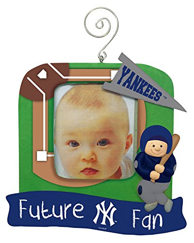 New York Yankees Official MLB 5.25 inch x 5 inch x 2.5 inch Future Fan Photo Frame Christmas Ornament