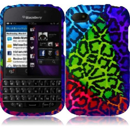 Cell Accessories For Less (Tm) For Blackberry Q10 Rubberized Design Cover Case - Sensational Leopard - By Thetargetbuys