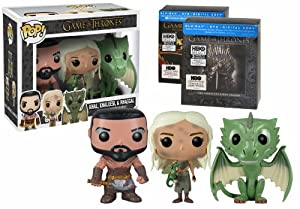 Game of Thrones Seasons 1 & 2 with 3 Exclusive Funko Pop Vinyls (Blu-ray/DVD Combo + Digital Copy) by HBO Studios