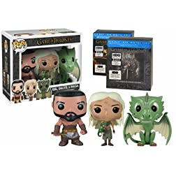 Game of Thrones Seasons 1 & 2 with 3 Exclusive Funko Pop Vinyls (Blu-ray/DVD Combo + Digital Copy)
