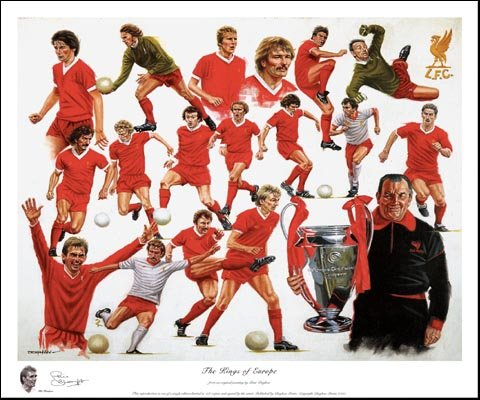 The Kings of Europe –   Limited Edition Print by Peter Deighan. Each print is individually signed by Phil Thompson