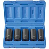 5 Piece 1/2inch Drive 6 Point Spindle Nut Socket Set-2pack