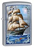 Zippo Mazzi Ship Windproof Lighter - Street Chrome