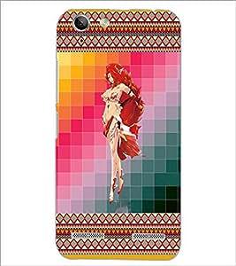 PrintDhaba Bold Girl D-4583 Back Case Cover for LENOVO VIBE K5 (Multi-Coloured)
