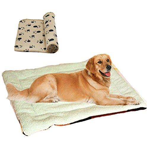 Artikelbild: Weiche Betten für großen kleinen Hund Haus neue Ankunft große Hund Große Haustiere Betten weiche hohe Qualität Pad mehrfarbig Katzen Hund Matte (S M L) inkl. Hunde-decken (100*70cm)