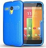 TUDIA Ultra Slim Melody TPU Bumper Protective Case for Motorola Moto G SmartPhone (Blue)
