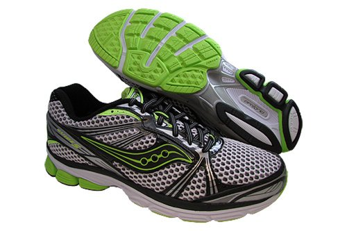 Saucony Men's Progrid Guide 5 Running Shoe,Black/White/Citron,11.5 M US Picture