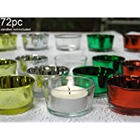 Glass Tealight Candle Holders Assorted Clear and Metallic Colors