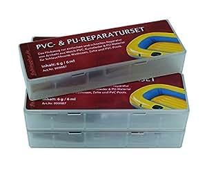 5er-Pack PVC und PU Reparatur Set, Flickzeug für Schlauchboot Zelt Pool Gewebe Planen Vinyl PVC PU (Polyurethan)