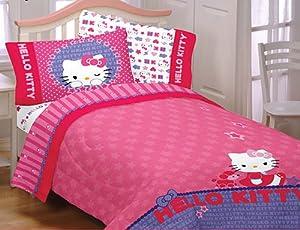 Hello Kitty Sheet Set: Twin