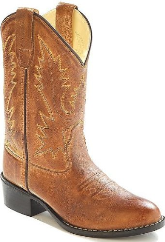 Cowboy Boots Old West Boys Corona Calfskin Cowboy Boot Round Toe