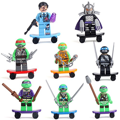 Teenage Mutant Ninja Turtles 8 Minifigures Ninja Ninjago Building Bricks lE Go
