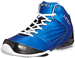 AND1 Master 2 Mid Men\'s Basketball Shoes (11, Royal/Black/White)
