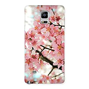 Delighted Cherry Blossoms Multicolor Back Case Cover for Galaxy Note 4