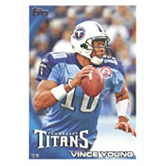 2010 Topps NFL Football Card # 186 Vince Young - Tennessee Titans - NFL Trading Card...