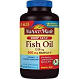Nature Made Fish Oil, Burp-Less, 1200 mg, Liquid Softgels, Value Size, 200 softgels