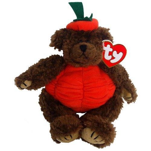 Ty Attic Treasures - Peter the Halloween Pumpkin Teddy Bear - 1