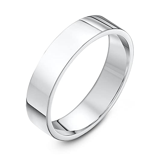 Theia Palladium 950, Super Heavy Weight, Flat Court Shape 6mm Wedding Ring