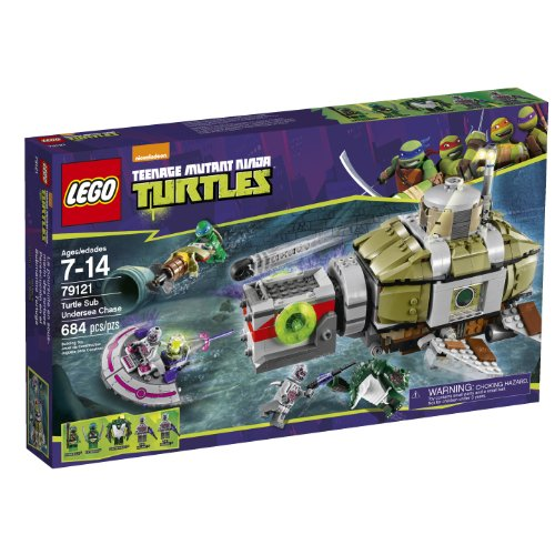 Lego Ninja Turtles 79121 Turtle Sub Undersea Chase Building Set back-896138