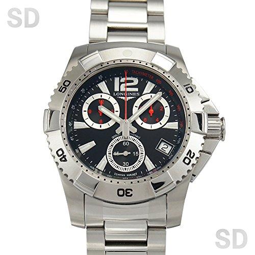 [ロンジン]LONGINES腕時計 ハイドロ コンクエスト クオーツクロノグラフ ブラック Ref:L3.650.4.59.6 メンズ [中古] [並行輸入品]