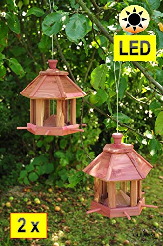 2-wild-bird-feeder-bird-feeder-and-garden-with-led-lights-twin-pack-with-6-x-feed-dispenser-and-silo