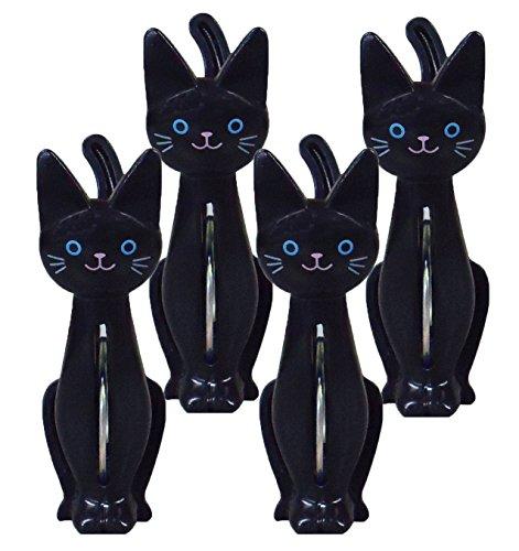 4 pieces clothespin black cat