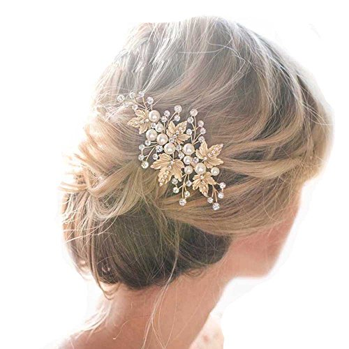 Missgrace Crystal Bridal Hair Pins Wedding Hair Accessories-Rhinestone Jewelry Headdress(pack of 2)