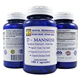 Mental Refreshment: D-Mannose - 1500mg, 180 Capsules #1 Best for Urinary Tract Health