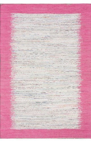 nuLOOM NEMA4A Madison Collection Contemporary Hand Made Area Rug, 8-Feet by 10-Feet, Pink