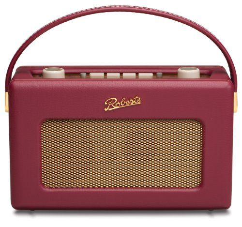 Roberts RD60 Revival DAB/FM RDS Digital Radio with Up to 120 Hours Battery Life - Burgundy