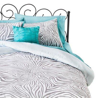xhilarationtm-zebra-reversible-bed-in-a-bag-gray-full
