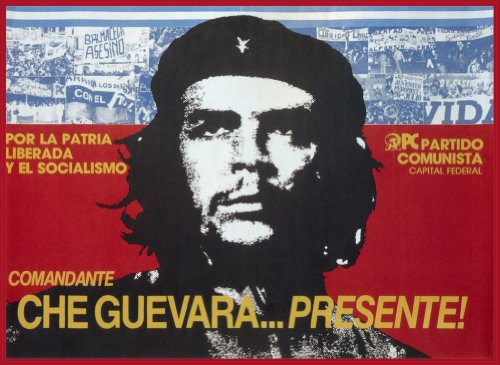 Vintage Argentina Propaganda POR LA giacca LIBERDA Y EL SOCIALISMO COMANDANTECHE GUEVARA PRESENTE! Cartolina illustrata, formato A3, 250 g/mq, riproduzione