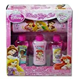 Disney Princess Royal Tresses Set with 2 Hair Clips Comb Hairbrush Mirror That Sticks to Tub Wall Tiara Shampoo and Conditioner (1 Each)