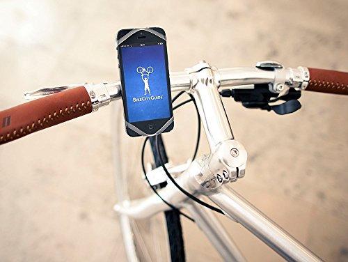 Supporto da bicicletta per gli smartphone Networx Finn, con navigazione-app, trasparente